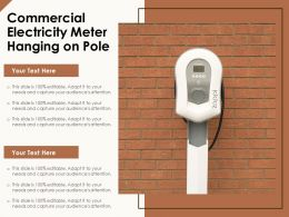Commercial Electricity Meter Hanging On Pole