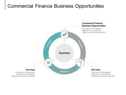 Commercial Finance Business Opportunities Ppt Powerpoint Presentation Outline Inspiration Cpb