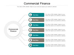 Commercial Finance Ppt Powerpoint Presentation Show Picture Cpb