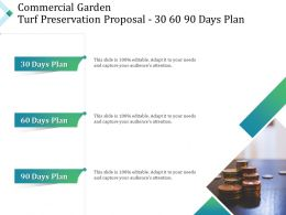 Commercial Garden Turf Preservation Proposal 30 60 90 Days Plan Ppt Powerpoint Aids