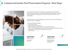 Commercial Garden Turf Preservation Proposal Next Steps Ppt Powerpoint Presentation Show