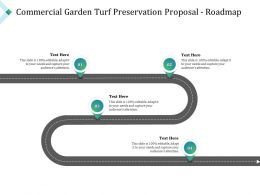 Commercial Garden Turf Preservation Proposal Roadmap Ppt Powerpoint Pictures Slide