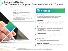 Commercial Garden Turf Preservation Proposal Statement Of Work And Contract Ppt Format