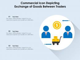 Commercial Icon Depicting Exchange Of Goods Between Traders