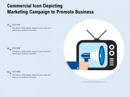 Commercial Icon Depicting Marketing Campaign To Promote Business