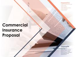 Commercial Insurance Proposal Powerpoint Presentation Slides