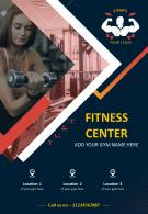 Commercial Leaflet For A Health And Fitness Institute Two Page Brochure Template