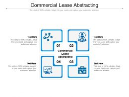 Commercial Lease Abstracting Ppt Powerpoint Presentation Slides Design Templates Cpb