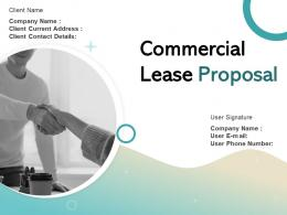 Commercial Lease Proposal Powerpoint Presentation Slides