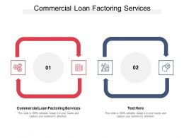 Commercial Loan Factoring Services Ppt Powerpoint Presentation Inspiration Pictures Cpb
