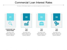 Commercial Loan Interest Rates Ppt Powerpoint Presentation Infographic Cpb