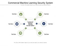 Commercial Machine Learning Security System Ppt Powerpoint Presentation Model Show Cpb