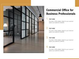 Commercial Office For Business Professionals