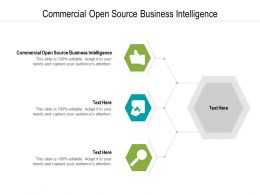 Commercial Open Source Business Intelligence Ppt Powerpoint Presentation Portfolio Example Cpb