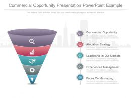Commercial Opportunity Presentation Powerpoint Example