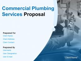 Commercial Plumbing Services Proposal Powerpoint Presentation Slides