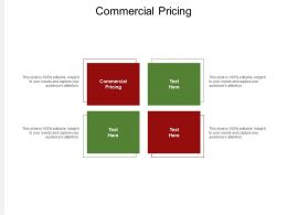 Commercial Pricing Ppt Powerpoint Presentation Model Inspiration Cpb
