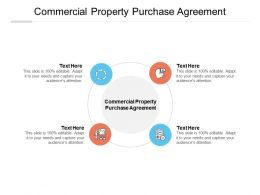 Commercial Property Purchase Agreement Ppt Powerpoint Presentation Summary Cpb