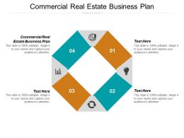 Commercial Real Estate Business Plan Ppt Powerpoint Presentation Gallery Graphics Cpb