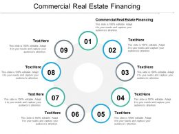 Commercial Real Estate Financing Ppt Powerpoint Presentation File Graphics Template Cpb