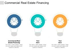 Commercial Real Estate Financing Ppt Powerpoint Presentation Gallery Guide Cpb