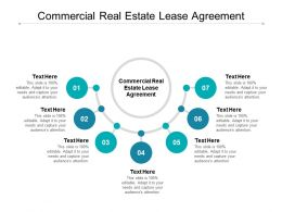 Commercial Real Estate Lease Agreement Ppt Powerpoint Presentation Aids Cpb