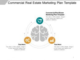 Commercial Real Estate Marketing Plan Template Ppt Powerpoint Presentation Inspiration Icon Cpb