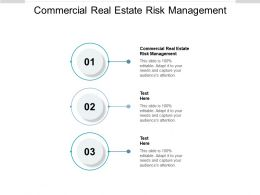Commercial Real Estate Risk Management Ppt Powerpoint Presentation Pictures Aids Cpb