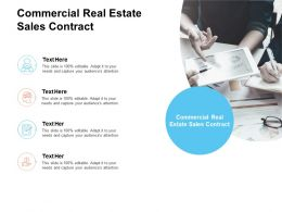 Commercial Real Estate Sales Contract Ppt Powerpoint Presentation Model Mockup Cpb