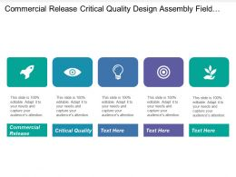 Commercial Release Critical Quality Design Assembly Field Call Rate