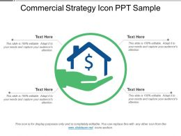 Commercial Strategy Icon Ppt Sample