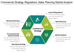 Commercial Strategy Regulations Sales Planning Market Analysis