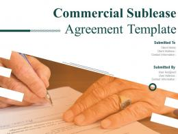 Commercial Sublease Agreement Template Powerpoint Presentation Slides