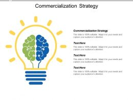 Commercialization Strategy Ppt Powerpoint Presentation Pictures File Formats Cpb
