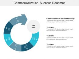 Commercialization Success Roadmap Ppt Powerpoint Presentation Show Designs Download Cpb