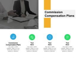 Commission Compensation Plans Ppt Powerpoint Presentation Pictures Structure Cpb