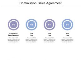 Commission Sales Agreement Ppt Powerpoint Presentation Pictures Gallery Cpb