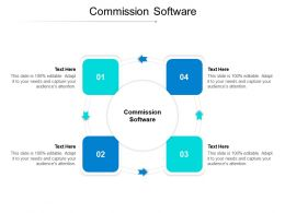 Commission Software Ppt Powerpoint Presentation Pictures Examples Cpb