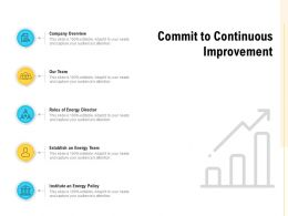 Commit To Continuous Improvement Company Overview Ppt Powerpoint Presentation Layouts