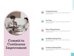 Commit To Continuous Improvement Ppt Powerpoint Presentation Slides