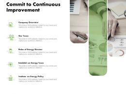 Commit To Continuous Improvement Ppt Powerpoint Topics