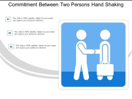 Commitment Between Two Persons Hand Shaking