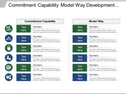 Commitment Capability Model Way Development Finance Enterprise