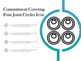 Commitment Covering Four Joint Circles Icon