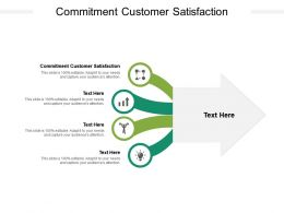 Commitment Customer Satisfaction Ppt Powerpoint Presentation File Templates Cpb