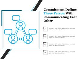 Commitment Defines Three Person With Communicating Each Other