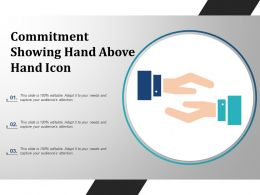 Commitment Showing Hand Above Hand Icon