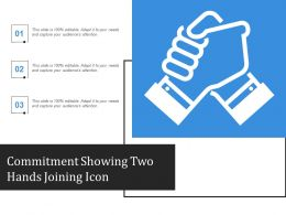 Commitment Showing Two Hands Joining Icon