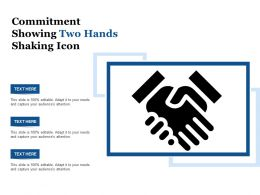 Commitment Showing Two Hands Shaking Icon