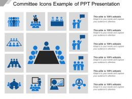 Committee Icons Example Of Ppt Presentation